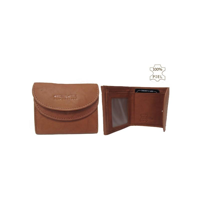 Billetero marrón con tarjetero extraible en piel de Ubrique 100/% autentica